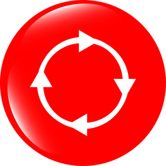 abstract circles lines (arrows) on web glossy icon (button)
