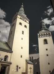 Church at centre of city Zilina, Slovakia