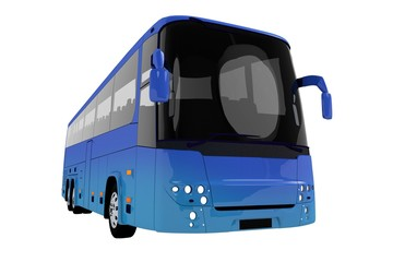 Modern Blue Tour Bus