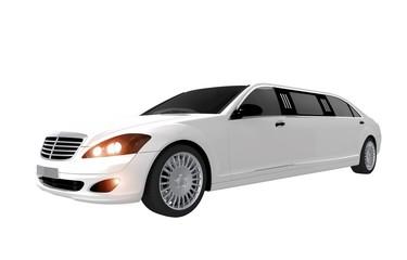 White Modern Limousine