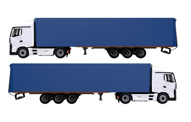 Euro Semi Trucks Isolated