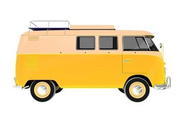 Camper Van Vintage Style
