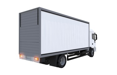 Cargo Euro Truck Isolated