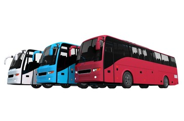 Buses Fleet Isolated