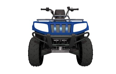 Front View ATV Quad Bike