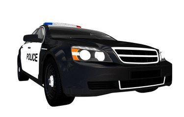 Front View Police Car