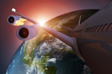Global Air Travel Concept