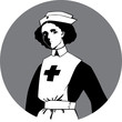 Постер, плакат: World War One Nurse Clipart