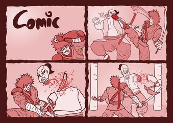 Comic gore scenes