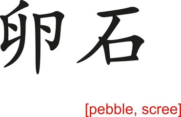 Chinese Sign for pebble, scree