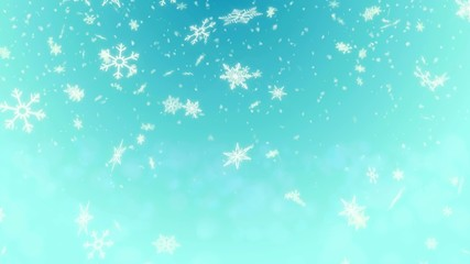 Snow Shape Loop Light Blue background