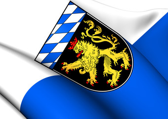 Flag of Upper Bavaria, Germany.