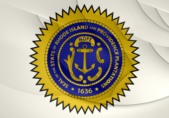 Seal of Rhode Island, USA.