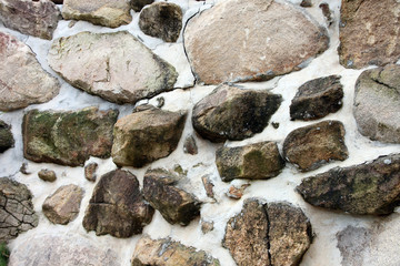 Surface of stone wall.