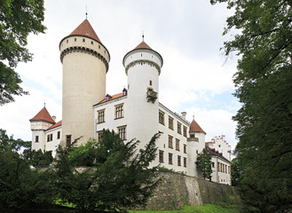 Old Konopiste castle in the Czech Republic.