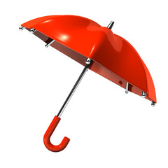 Slanting Red Umbrella