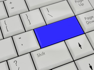 Laptop Keyboard  blue Enter Key