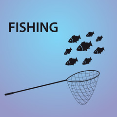 small fish fishing eps10
