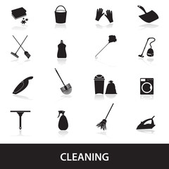 cleaning icons set eps10