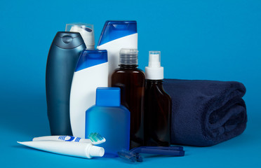Lotion and foam for shaving, a cosmetics set