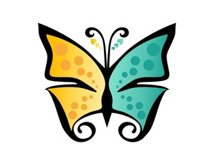butterfly logo,beauty,spa,care,relax,yoga,abstract symbol