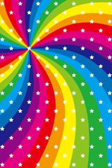 背景素材壁紙(虹, 虹色, 七色, レインボー, 放射状, 渦)