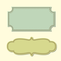 vintage tag background vector