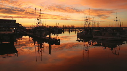 Steveston Fisherman's Wharf Sunrise