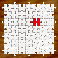 puzzle sur table