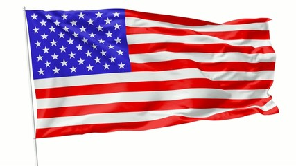 Flag of United States on flagpole