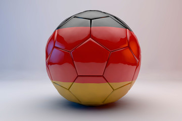 3d render of soccer ball with german flag