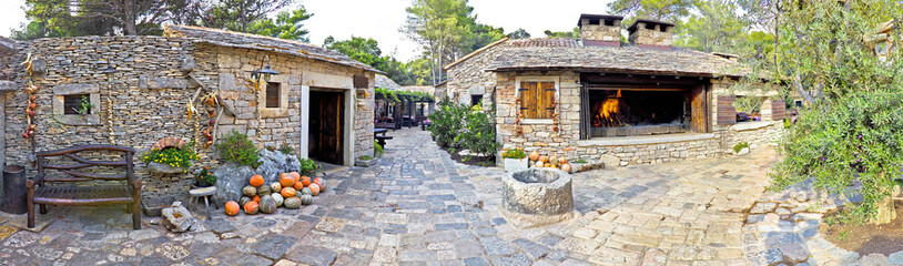 Traditional stone village in Dalmatia