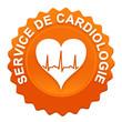 service de cardiologie sur bouton web denté orange