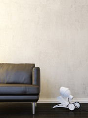 Modern interior minimalism style
