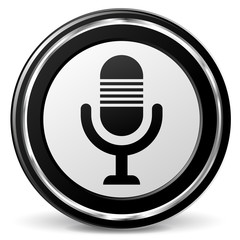 Vector microphone icon