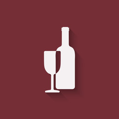 wine menu design element