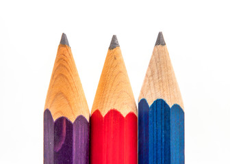 Three sharp pencils