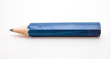 Blue wooden pencil