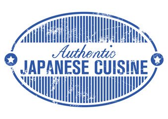 japan cuisine rubber stamp
