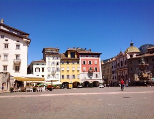 panoramic view of city center in Trento