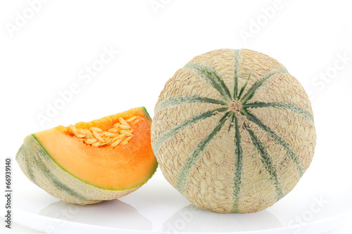melon frais avec quartier