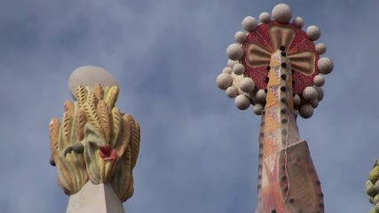 Spiers of the Sagrada Familia towers.