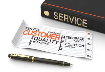 Customer service concep