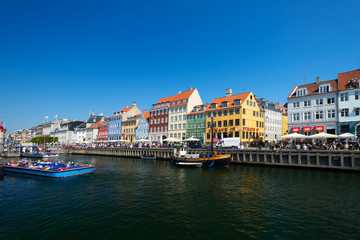 Nyhavn old waterfront and canal district
