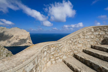 Observation point near Cape Formentor in Mallorca