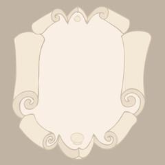 baroque frame background vector Illustration, hand drawing