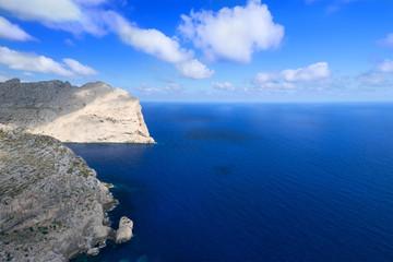 Coast near Cape Formentor in Mallorca horizontal
