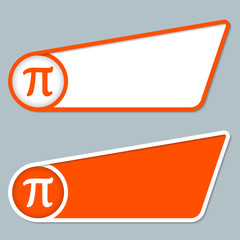 two orange boxes for any text with pi symbol