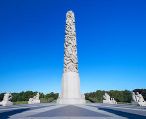 Sculptures in Vigeland park main obelisk