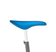 Bicycle seat in blue design